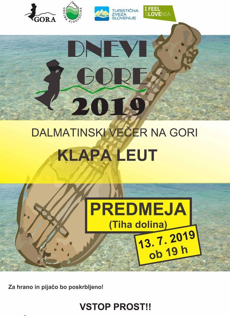Dalmatinski večer na Gori