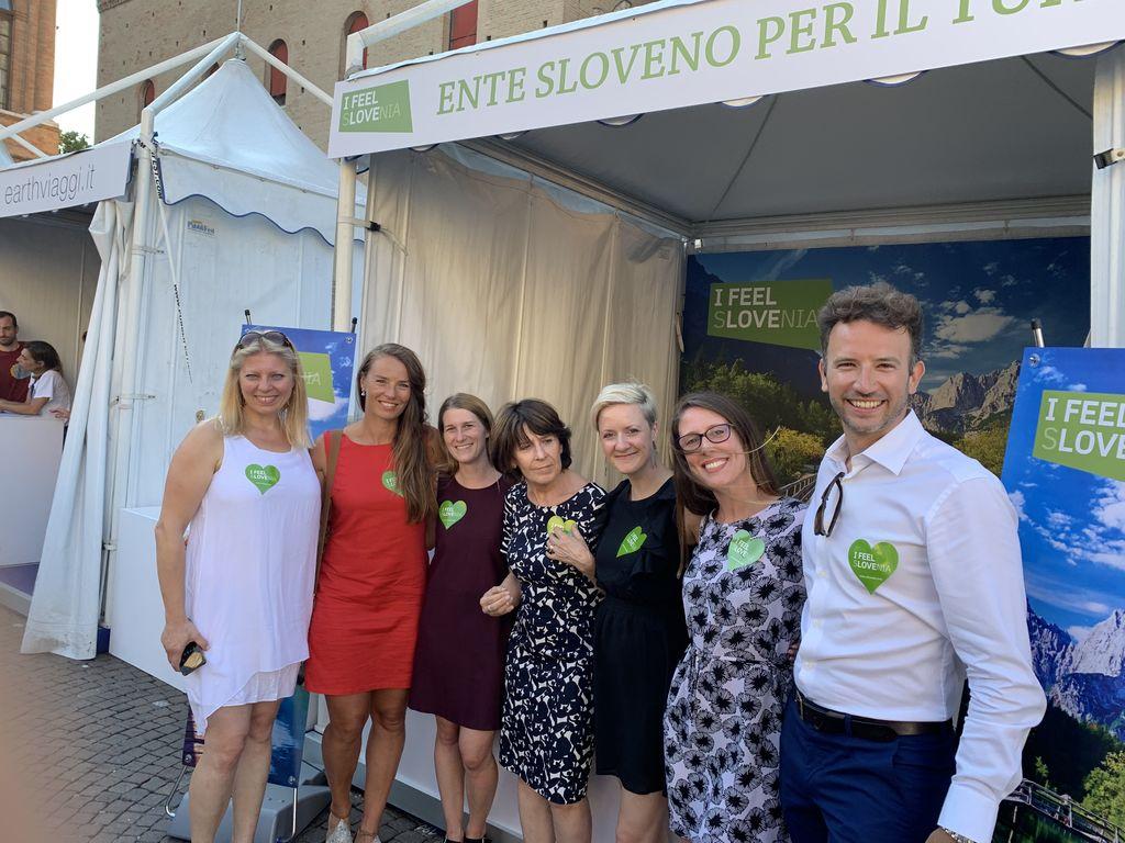 S Tino Maze na festivalu v Riminiju