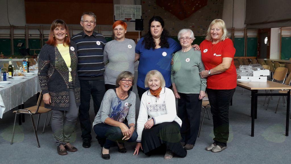 Člani Občinske organizacije Rdečega križa Vransko