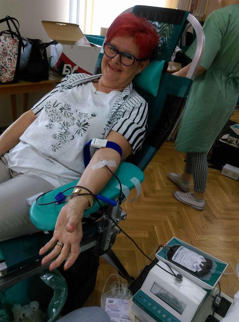 Marija Špitaler je naša redna krvodajalka, ki se krvodajalskih akcij udeležuje v Preboldu.