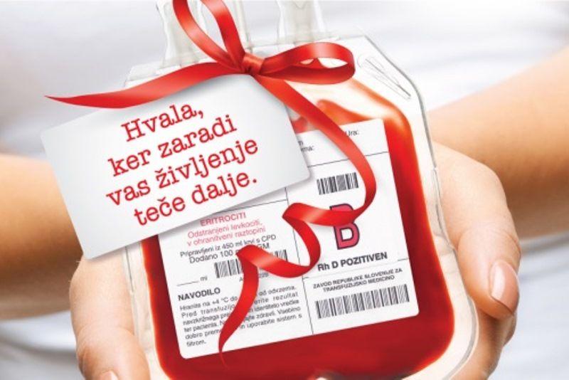 Prva letošnja krvodajalska akcija na Vranskem bo 22. 7., druga pa po novem 2. 12. 2021.