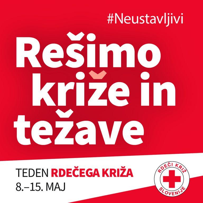 Slogan letošnjega tedna Rdečega križa je Rešimo kriz(že) in težave.