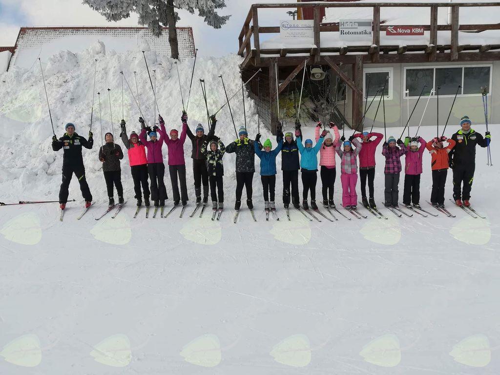 Foto: Špela Moroz (Zimski tekaški tabor na Vojskem)