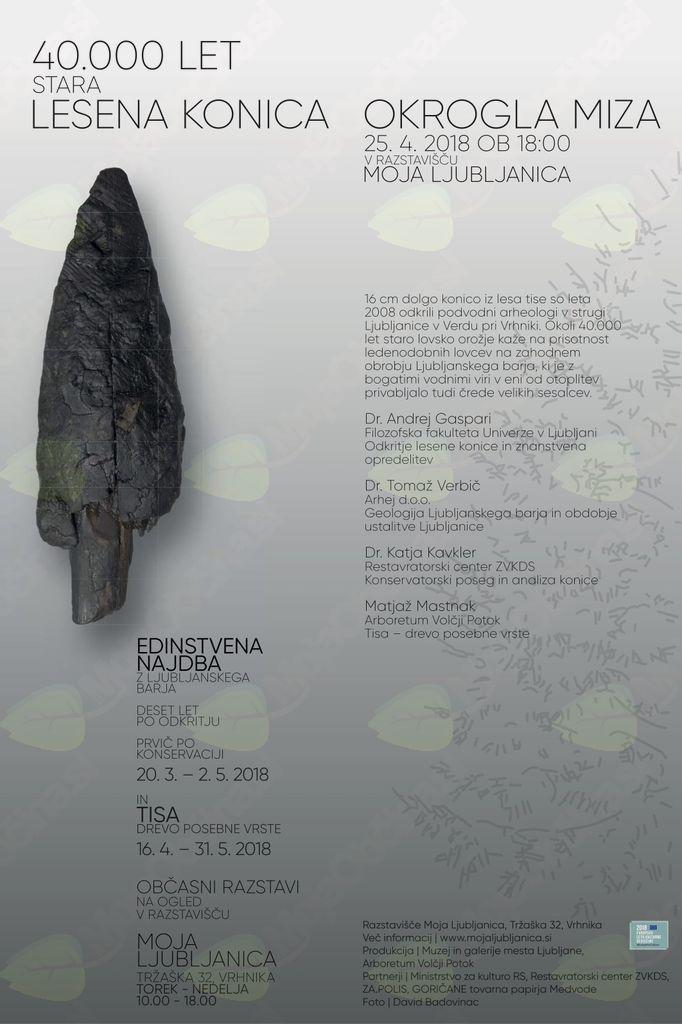 OKROGLA MIZA - 40.000 let stara lesena konica