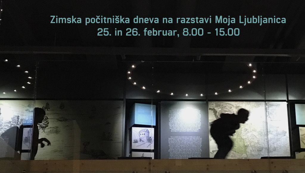 Zimska počitniška dneva na razstavi Moja Ljubljanica