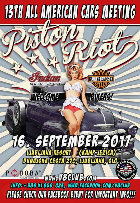 PISTON RIOT 2017 - 13th ALL AMERICAN CARS MEETING