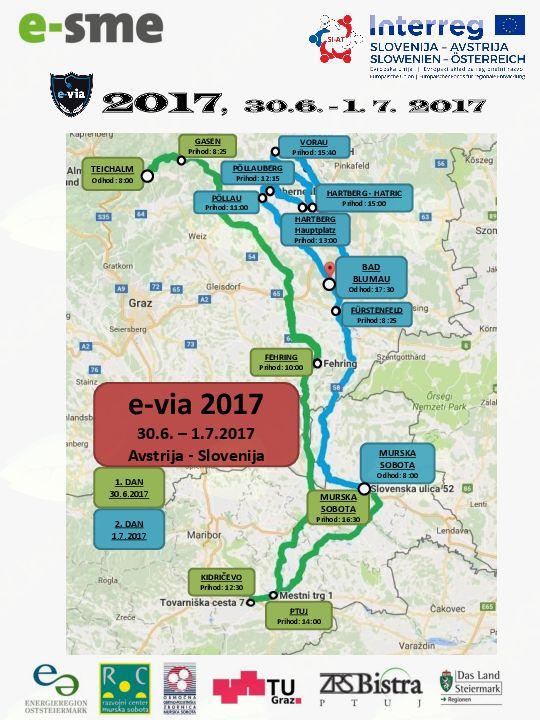 3. promocijska mednarodna dirka z električnimi vozili »e-via 2017« tudi na Kidričevem