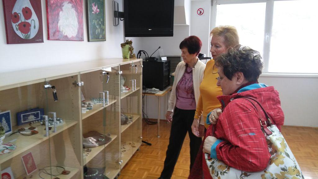 Razstava slikarjev, ročnega dela in ustvarjalnega krožka v Knjižnici Sevnica