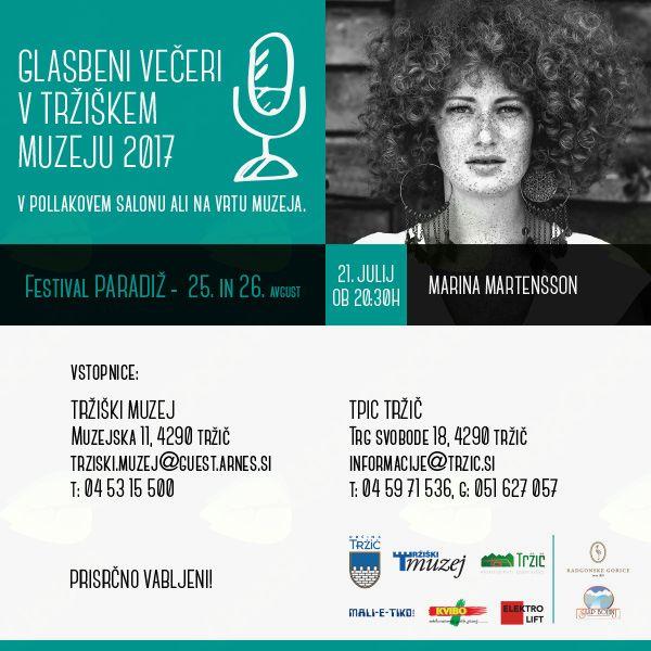 21. 7. bo v Tržiškem muzeju gostovala Marina Martensson
