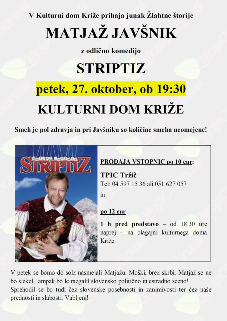 Monokomedija Matjaža Javšnika: Striptiz