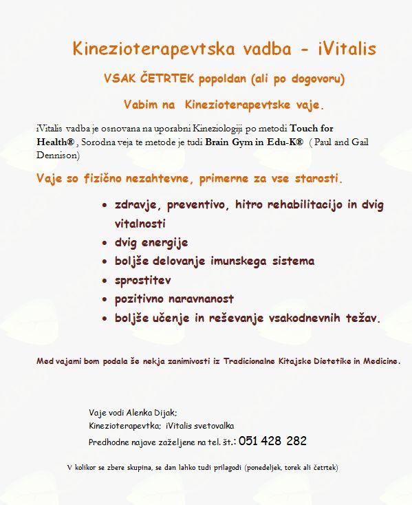 Kinezioterapevtska vadba - iVitalis