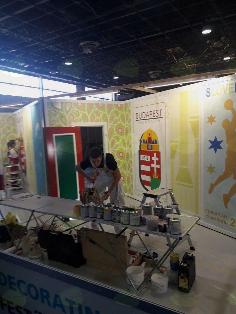 Aljaž Žvokelj na tekmovanju Euroskills