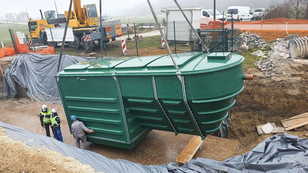 Primarni bazen, kjer se bo zbiralo odpadno blato.