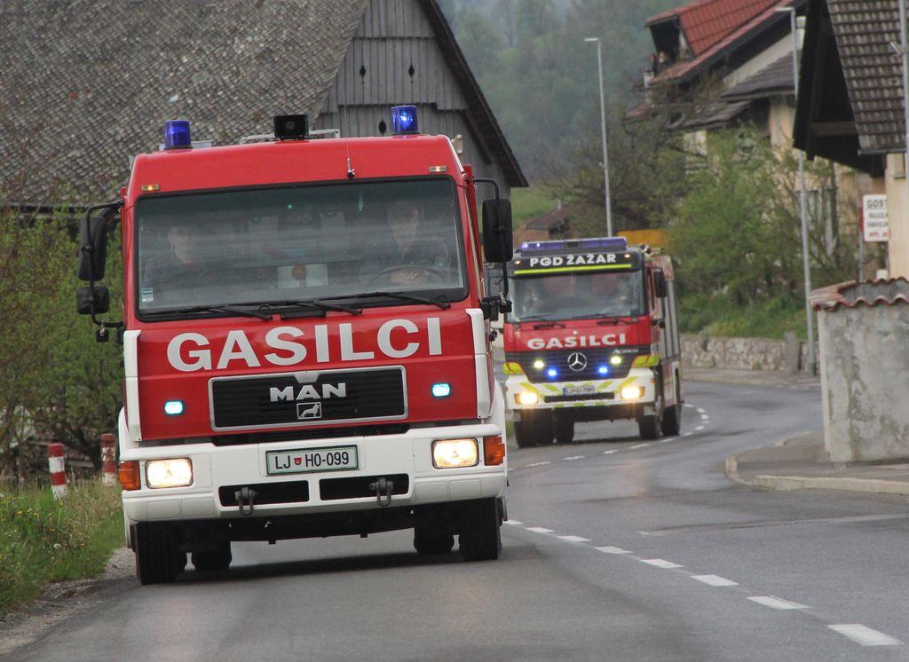 Lado Prebil, predsednik Gasilske Zveze Horjul, je priznal, da je bila akcija tudi dober trening za tehniko in voznike.