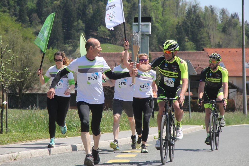 'Leteča' predaja štafete v Zaklancu.