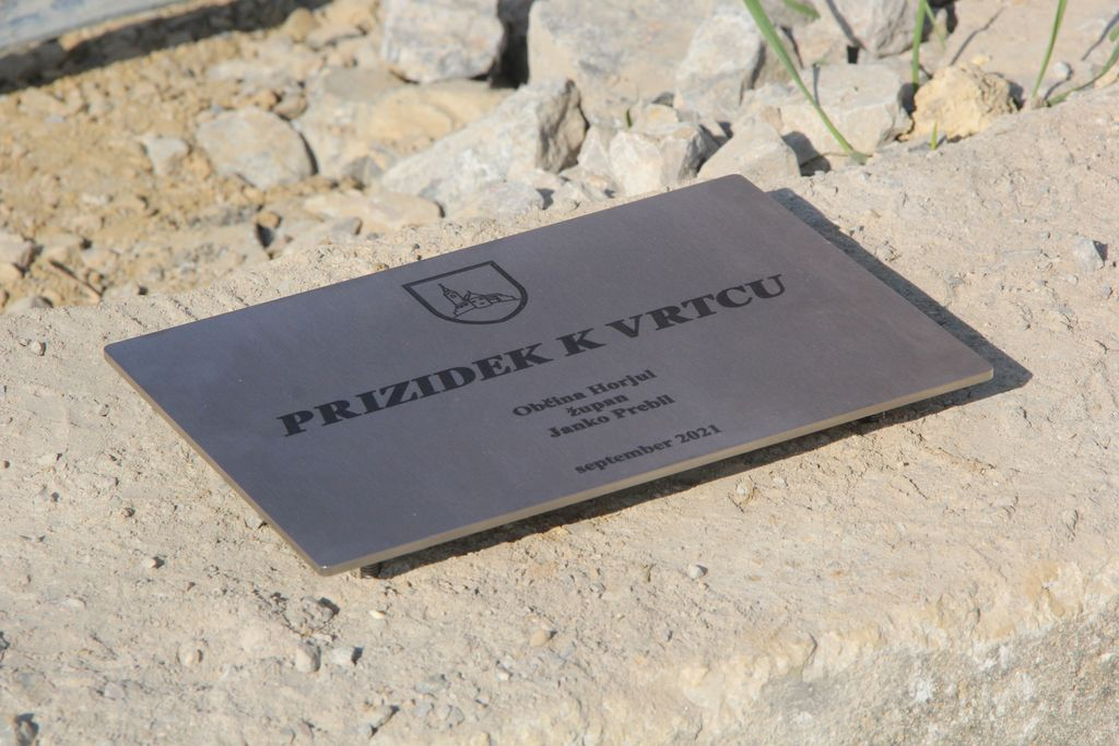 Položili temeljni kamen za prizidek k vrtcu Horjul