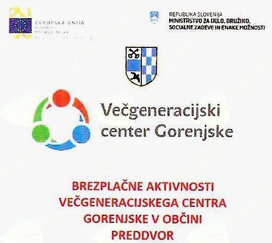 Januarske aktivnosti medgeneracijskega centra Gorenjske v Preddvoru