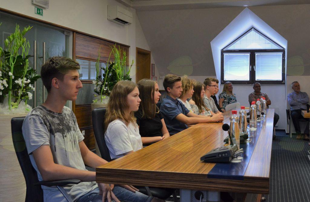 Sprejem nadarjenih otrok pri županu Občine Brezovica
