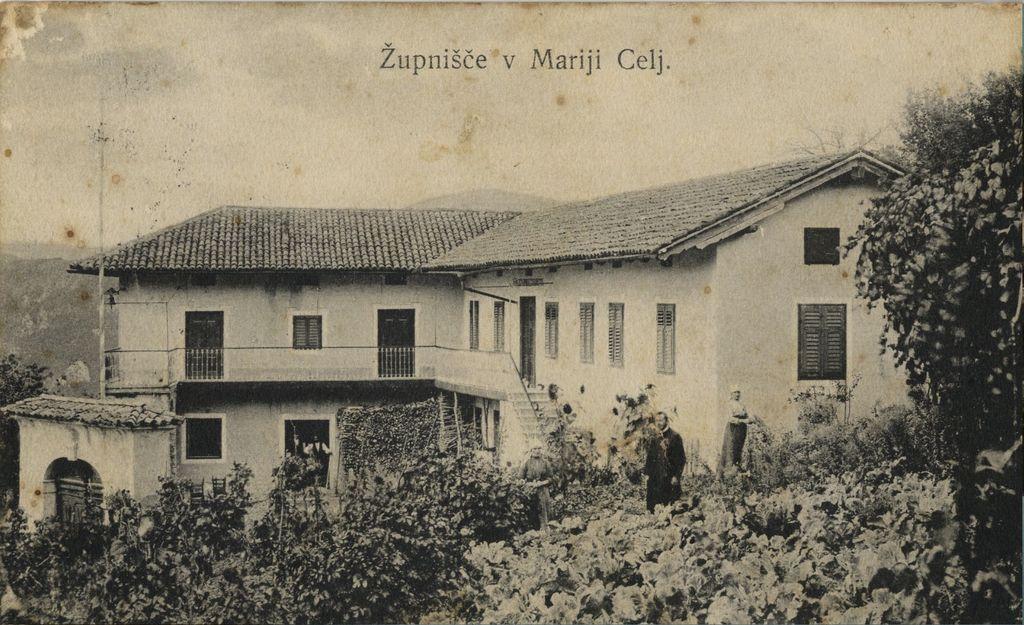 Župnišče na Ligu (Zbirka razglednic Goriške knjižnice Franceta Bevka)