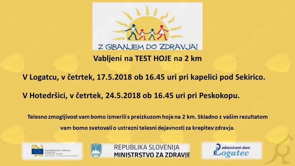 Test hoje na 2 km