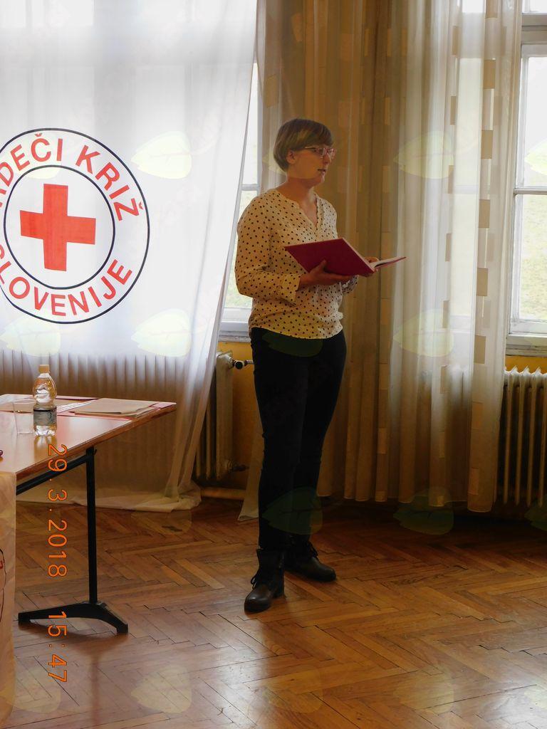 Predsednica RK Logatec Špela Albreht.
