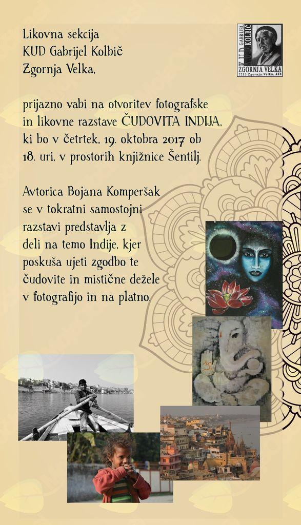 Otvoritev fotografske in likovne razstave avtorice Bojane Komperšak