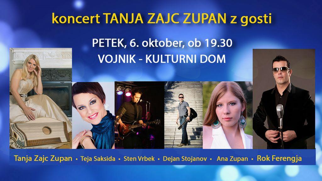 Koncert TANJA ZAJC ZUPAN Z GOSTI