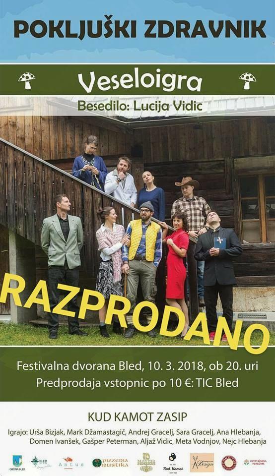 Razprodana veseloigra v Festivalni dvorani Bled
