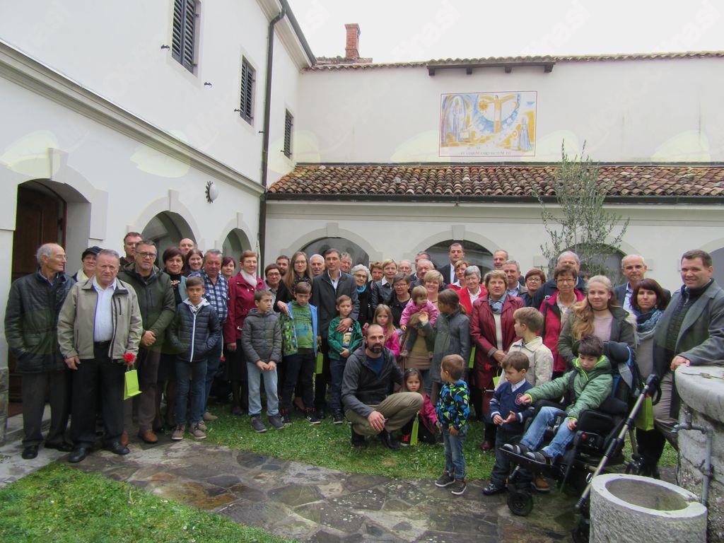 Srečanje zakonskih jubilantov v Križu