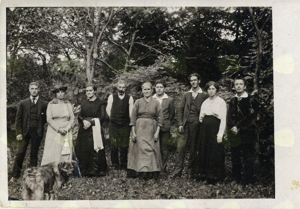 Leljini sorodniki na Rovni (Slap) leta 1920-1921