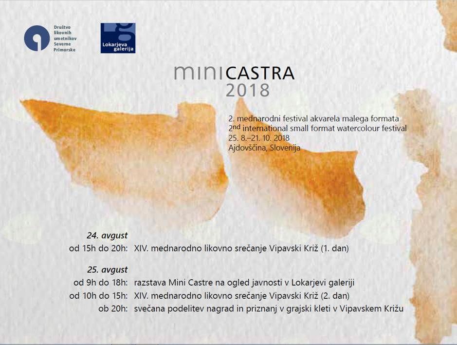 Mednarodni bienale akvarela malega formata Mini Castra 2018