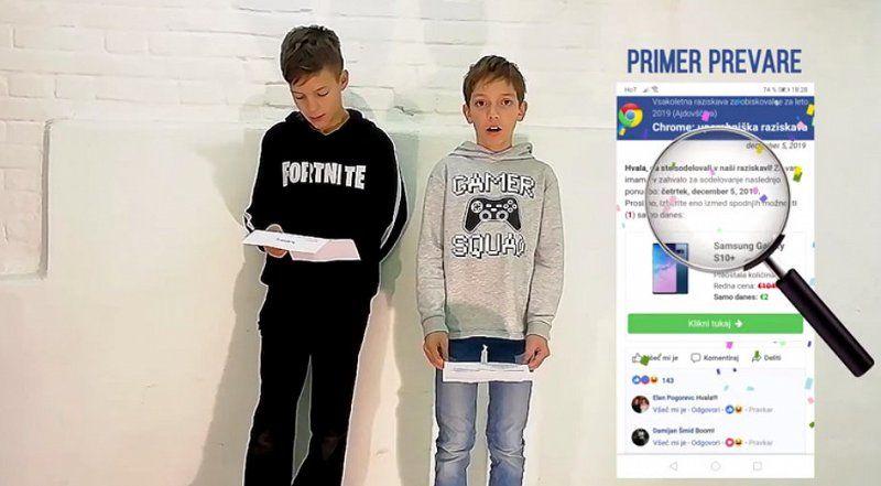 Vipavski osnovnošolci ustvarjalno opozorili na varnostne izzive digitalnih tehnologij