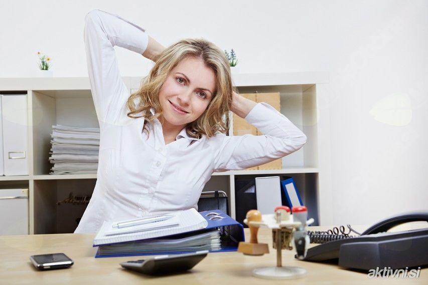 »Zdravo delo v pisarni« - ohranjanje zdravja in gibljivost hrbtenice na delovnem mestu
