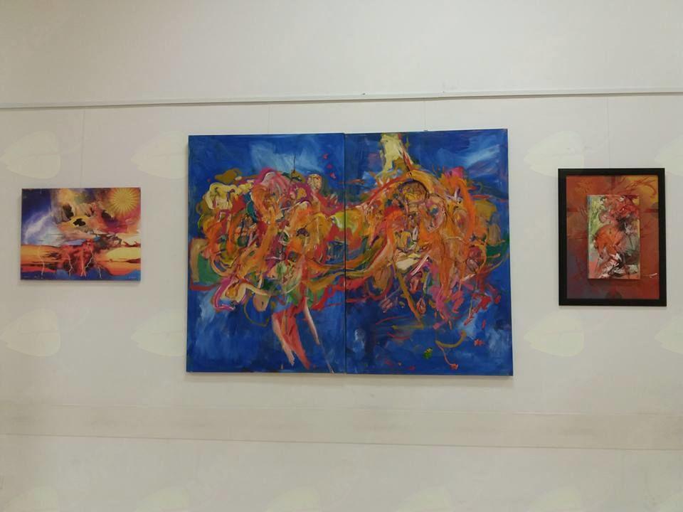 Likovna  razstava iz 22. likovne  kolonije Umetniki za Karitas