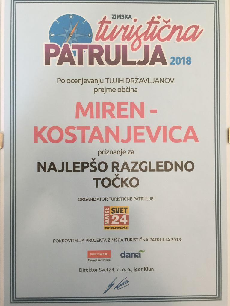 Pomnik miru na Cerju- NAJ RAZGLEDNA TOČKA  v akciji  Turistična patrulja 2018!