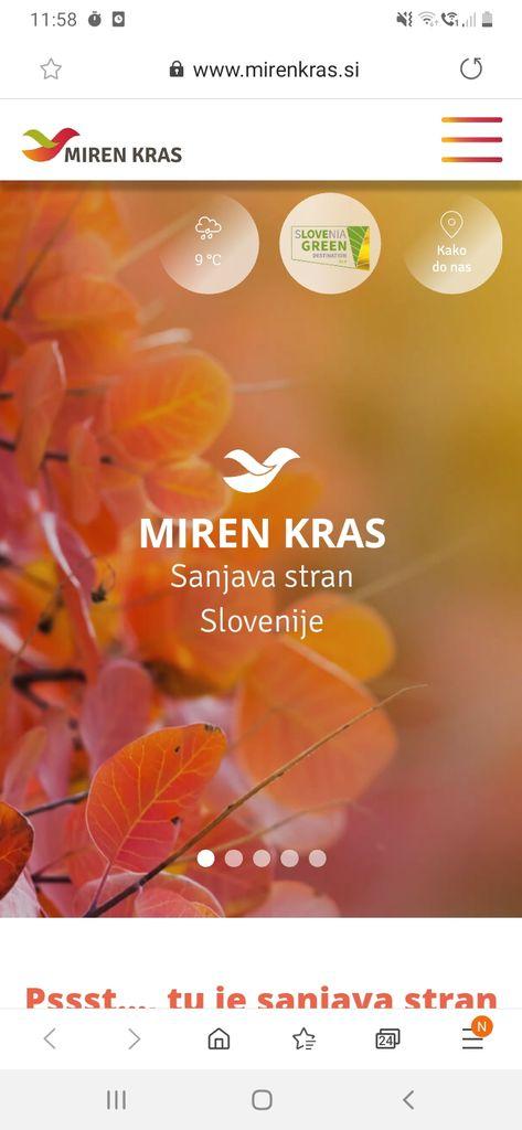 Destinacija Miren Kras v novo leto vstopa z novo spletno stranjo.