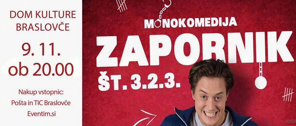 DOMEN VALIČ: monokomedija Zapornik št. 3.2.3.