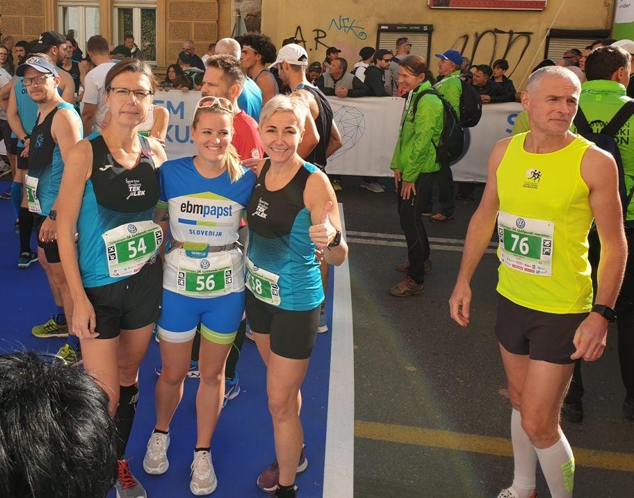 Tekači ŠD Tek je lek na Ljubljanskem maratonu