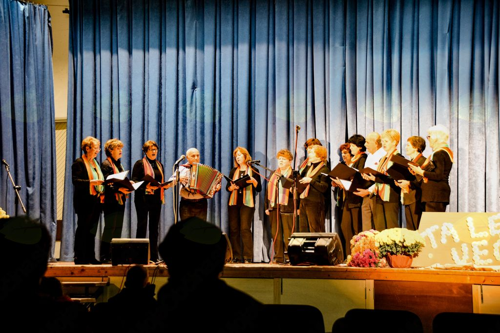 Mešani pevski zbor DU Vrhnika ob spremljavi harmonike