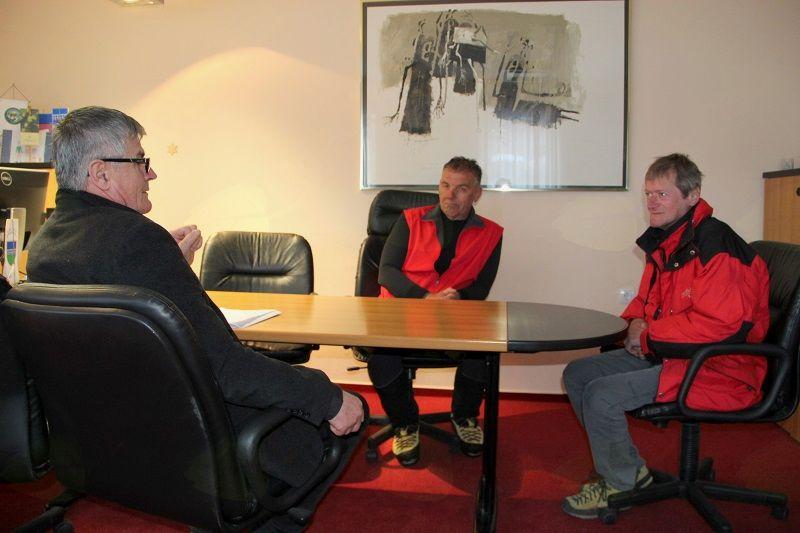 Alpinistična junaka na sprejemu pri županu