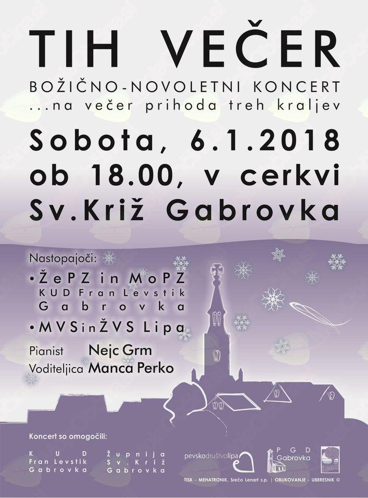 """Tradicionalni božično-novoletni koncert """"Tih večer"""""""