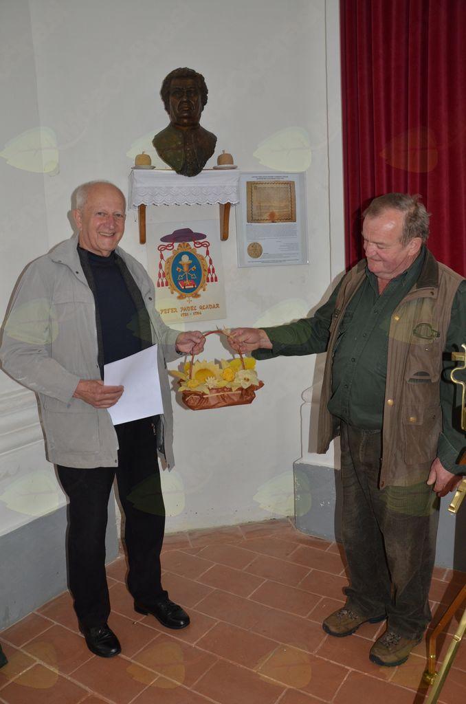 Dr. Andrej Šalehar (levo) in Anton Koželj (desno) 6. maja 2017 na Lanšprežu