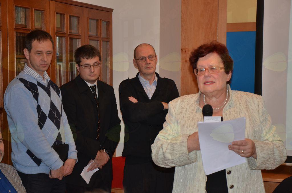 Predstavitev usode mobilizirancev v nemško vojsko je vodila dr. Marjeta Humar iz Kamnika.