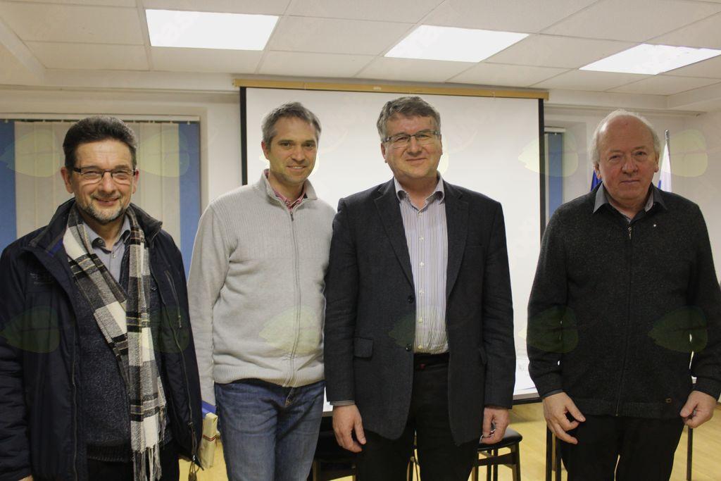 Še fotografija za anale (z leve proti desni): dr. Ivan Štuhec, Štefan Petkovšek, dr. Igor Bahovec in Jožef Pavlič