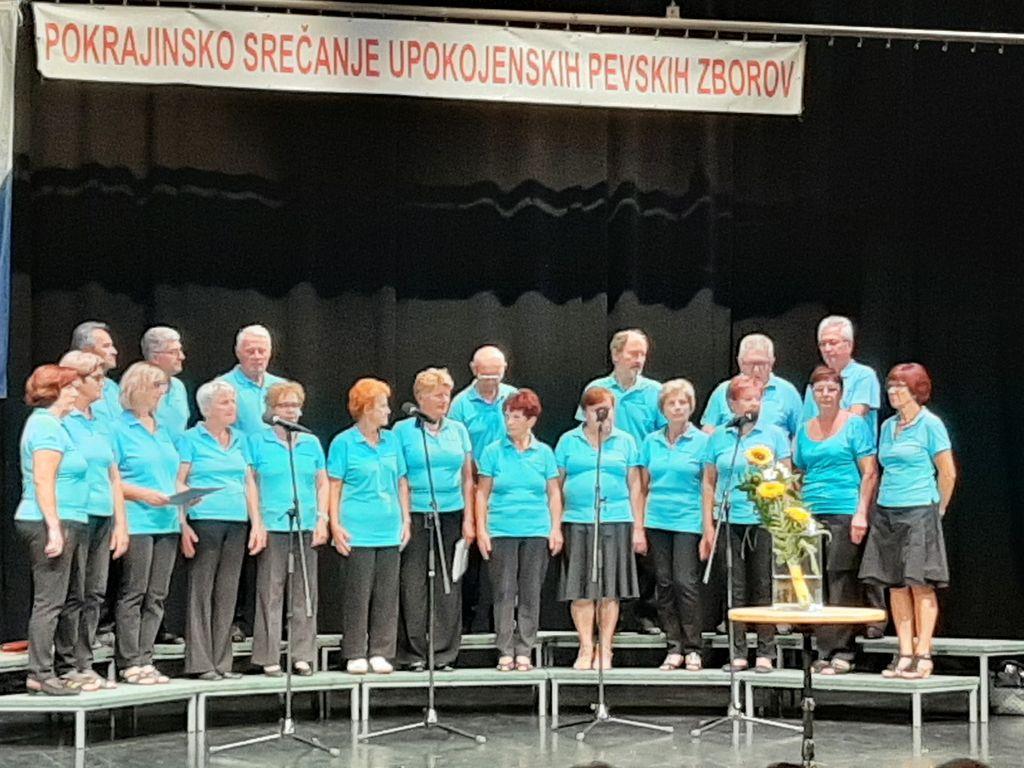 Mešani pevski zbor DU Komenda med nastopom