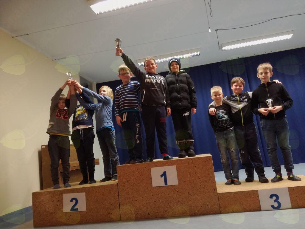 1.mesto- Žan Karner, Andraž Plevnik, Erik Ivartnik