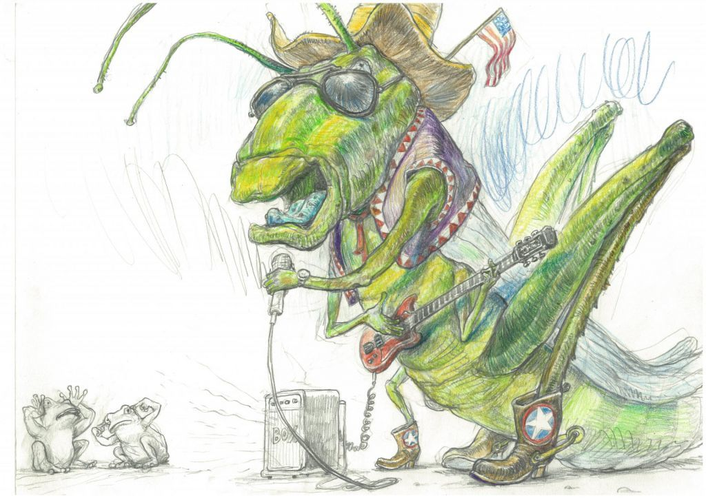 M. Erič, ilustracija iz knjige Kaj je zeleno in leti po zraku