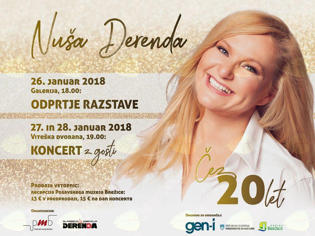 Nuša Derenda: Čez 20 let - Odprtje razstave in koncerta z gosti
