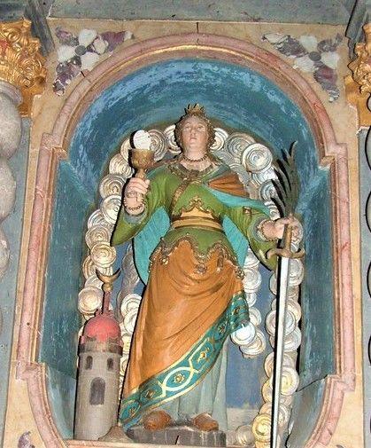 Ravnik pri Hotedršici, p. c., sv. Barbara (foto: Simona Kermavnar)