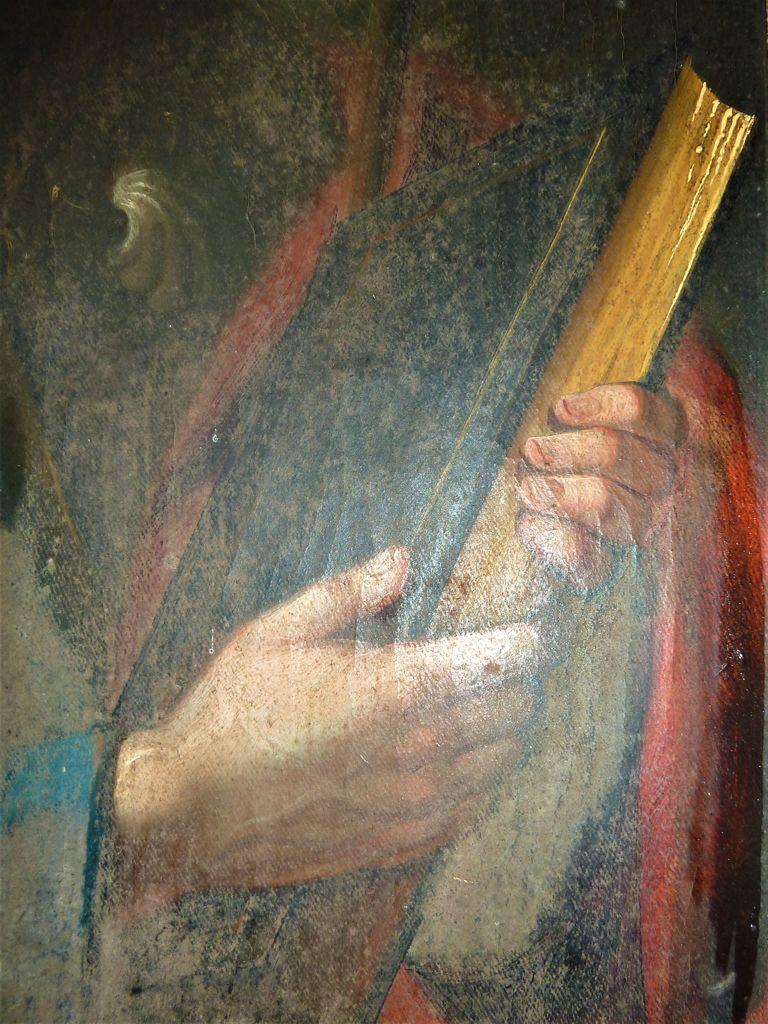 Detajl slike Apostola Jakoba (foto: S. K.)